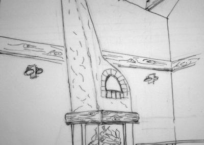 Projekt zabudowy istniejącego wkładu kominkowego