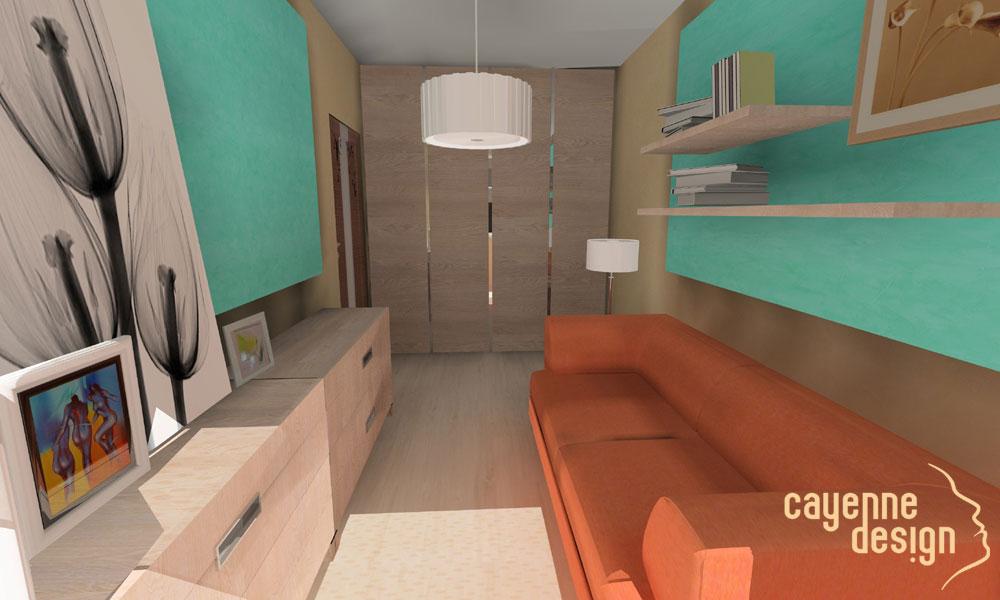 Projekt sypialni gościnnej