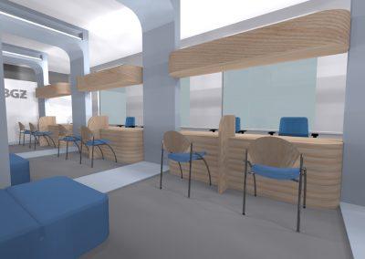 Bank - projekt wnętrza