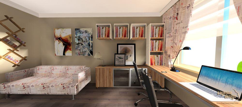 Mieszkanie dwupoziomowe - biuro