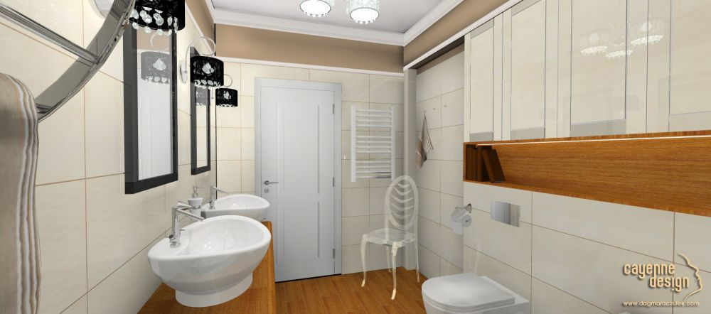 Mieszkanie dwupoziomowe - łazienka (płytki Paradyż)