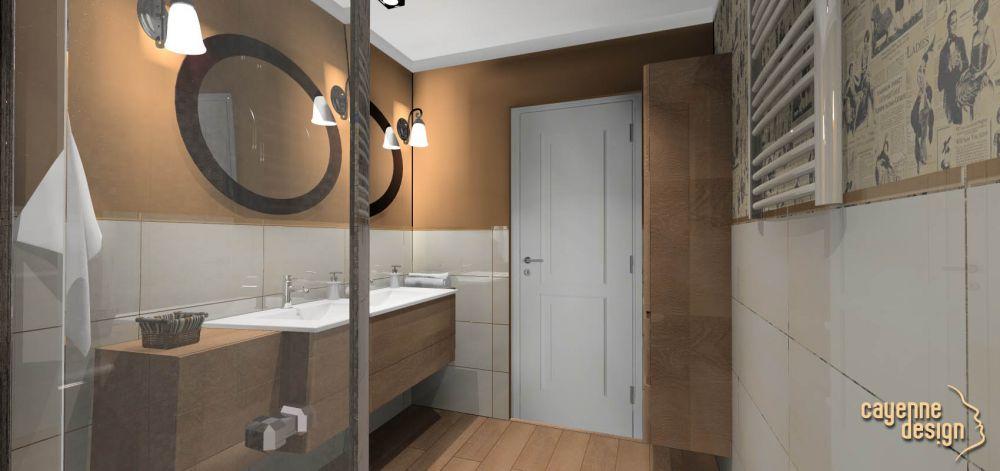 Mieszkanie dwupoziomowe - łazienka  poziom 0
