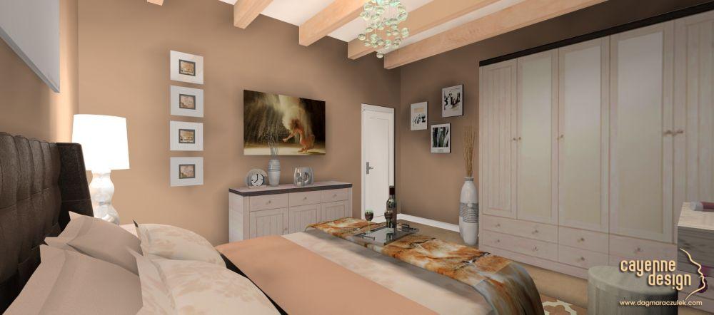 Mieszkanie dwupoziomowe - sypialnia