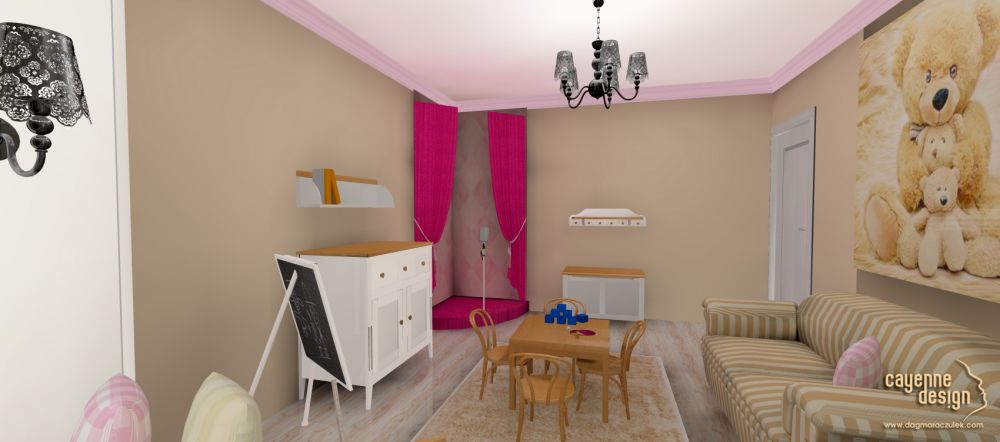 Mieszkanie dwupoziomowe - bawialnia