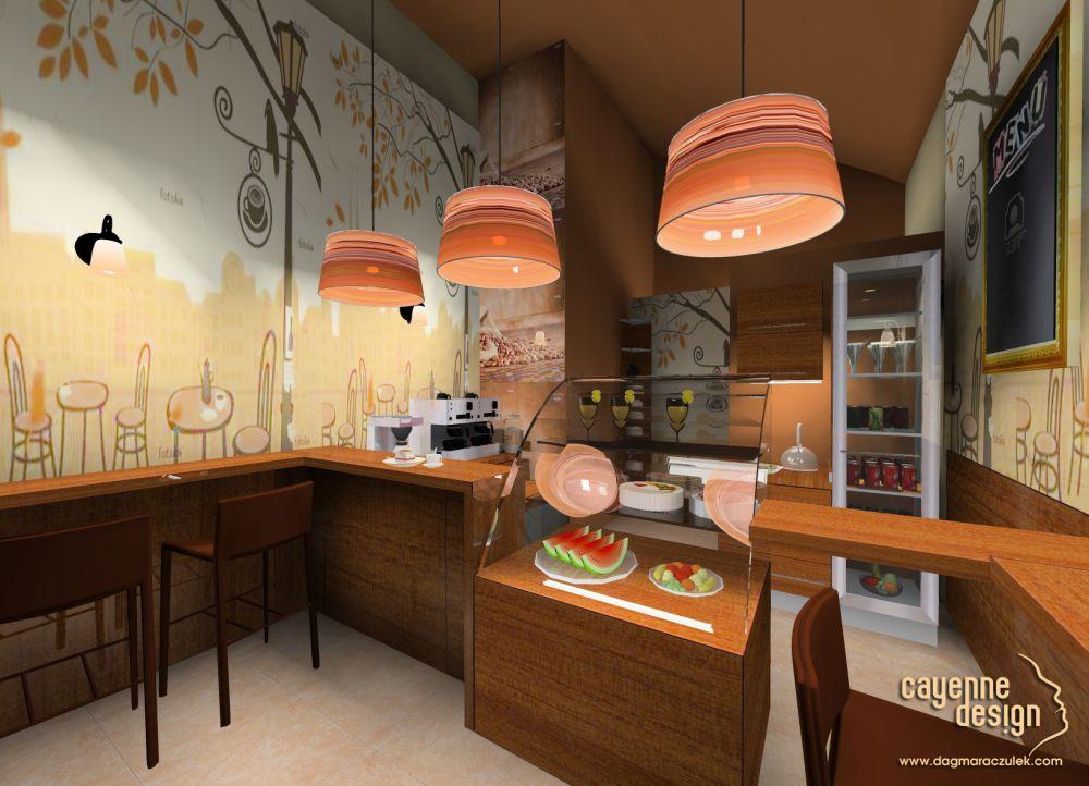 Projekt wnętrza kawiarni