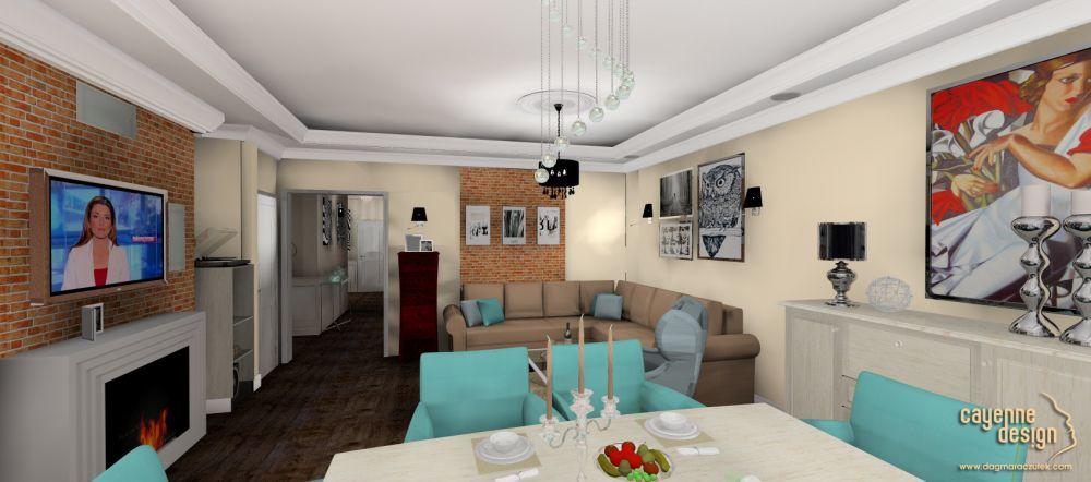 Mieszkanie dwupoziomowe - salon