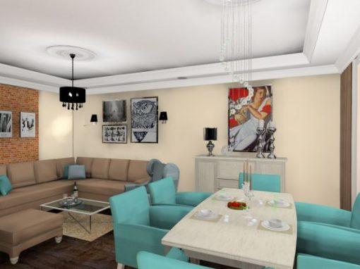 Legnica – mieszkanie dwupoziomowe