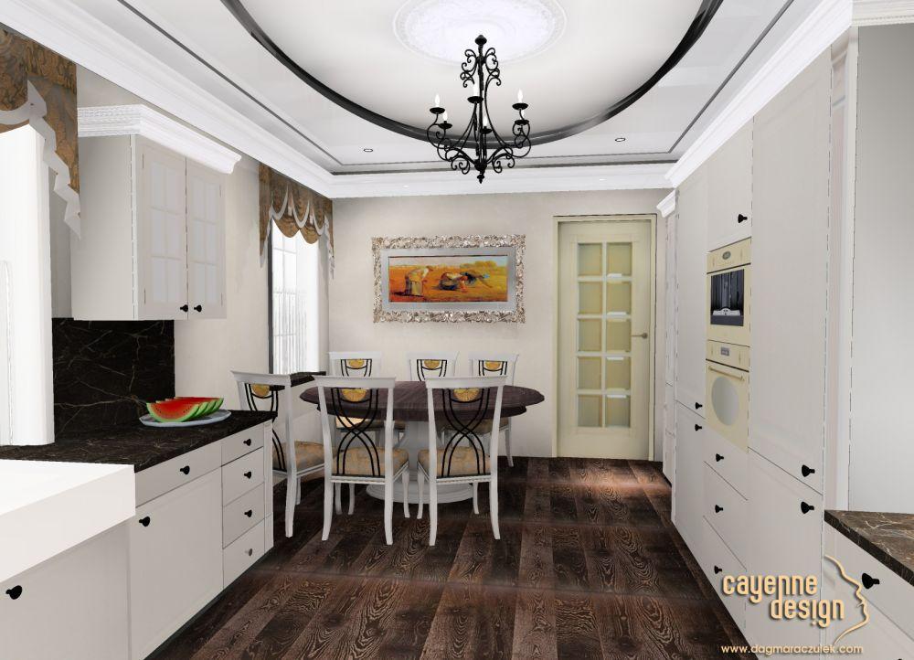 Kuchnia w stylu angielskim  Projektowanie, aranżacje, architekt wnętrz  Wro